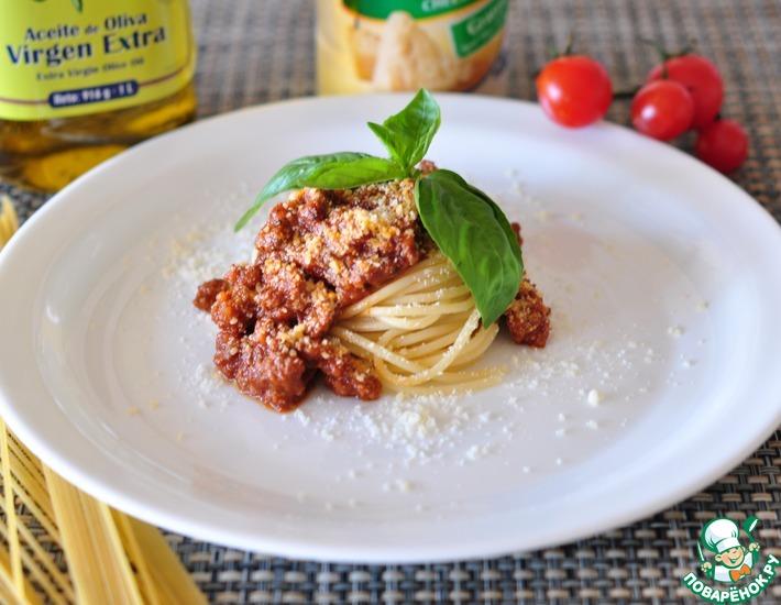 Рецепт: Спагетти Болоньезе