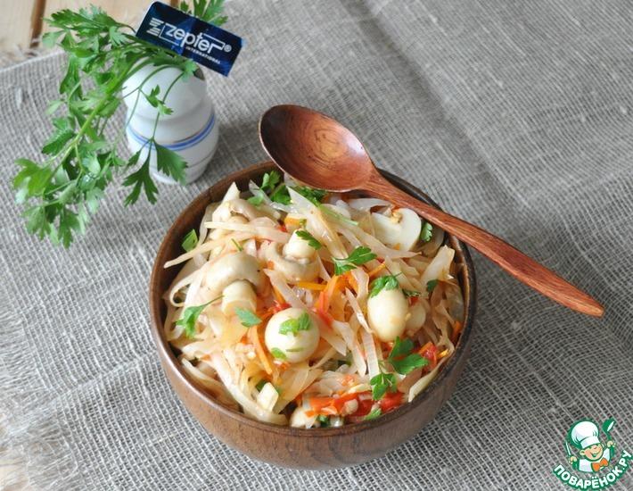 Рецепт: Закуска из капусты по-деревенски