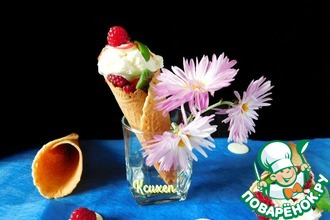 Рецепт: Вафельные рожки для мороженого