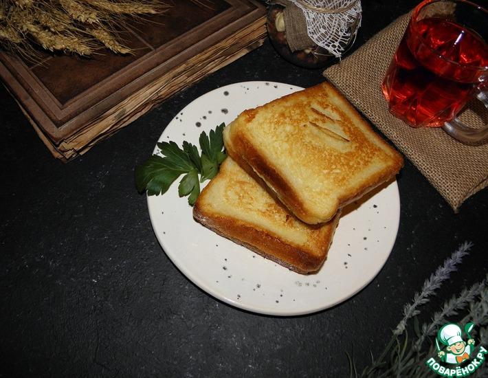 Рецепт: Горячие бутерброды Семейный завтрак