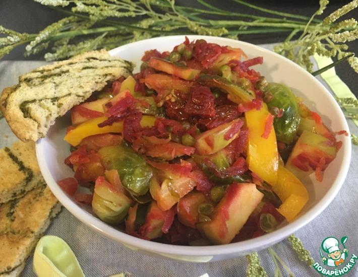 Рецепт: Теплый салат Невада