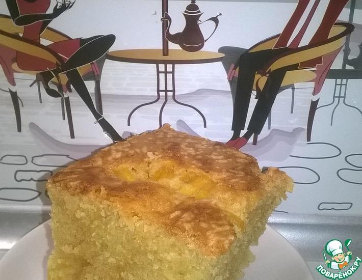 Рецепт: Яблочно-ананасовый пирог