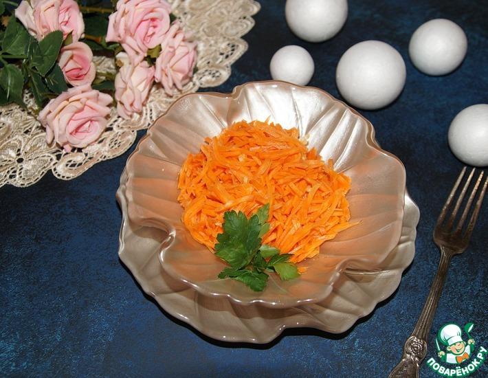 Рецепт: Морковь по-корейски Мгновенная