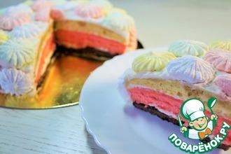 Рецепт: Бисквитный торт со сметанным кремом