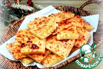 Рецепт: Закусочное творожно-сырное печенье