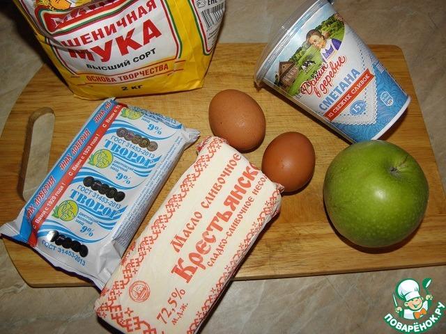 Творожная запеканка с карамельными яблоками