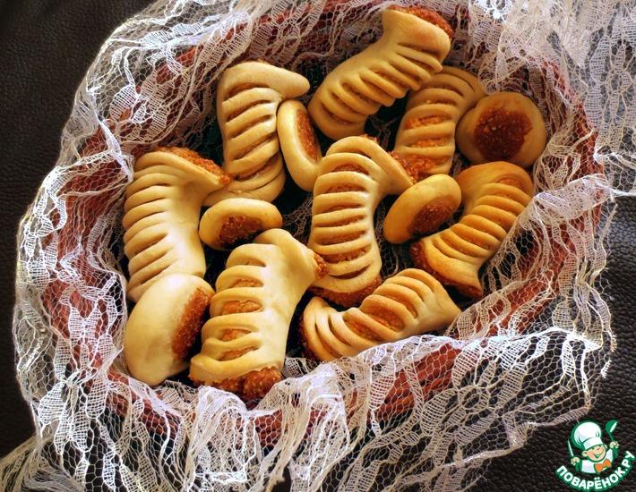 Рецепт: Печенье с арахисовой начинкой