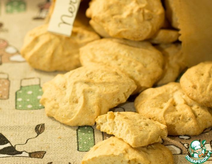 Рецепт: Печенье Бисквиты ореховые