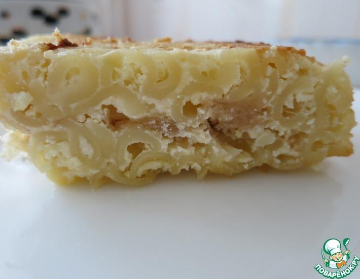 Рецепт: Яблочно-вермишелевая запеканка
