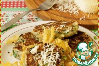 Рецепт: Оладьи с сыром Полезный завтрак