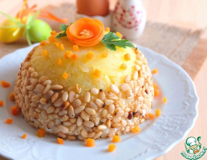 Рецепт: Салат Пасхальный с печенью и орехами