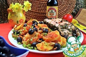 Рецепт: Томатный картофель к лососевому стейку