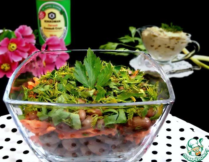 Рецепт: Фасолевый салат с морковью