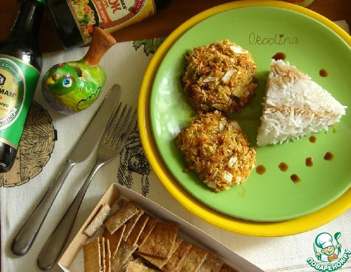 Рецепт: Биточки из крабовых палочек и овощей