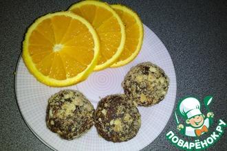 Рецепт: Апельсиновые конфеты из детской смеси