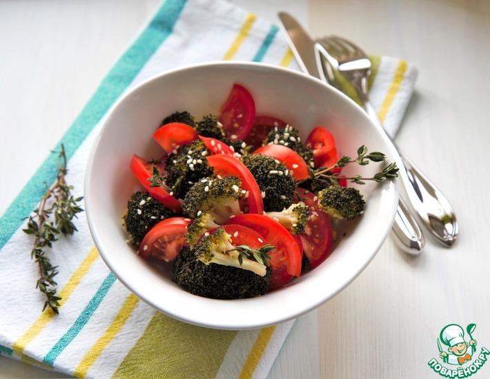 Рецепт: Салат из брокколи и помидоров