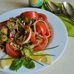 Салат с первоцветами