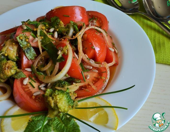 Рецепт: Салат с первоцветами