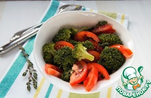 Салат с брокколи и помидорами. Пошаговый рецепт с фото | Кушать нет
