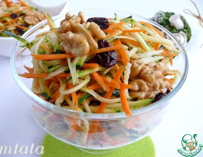 Рецепт: Салат из цуккини с морковью