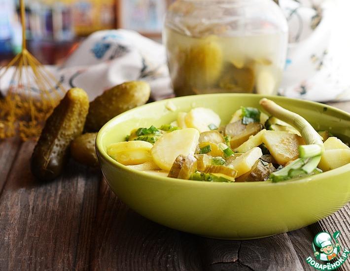 Рецепт: Картофельный салат с огурцами