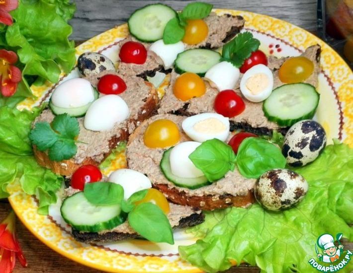 Рецепт: Сырно-печёночный паштет