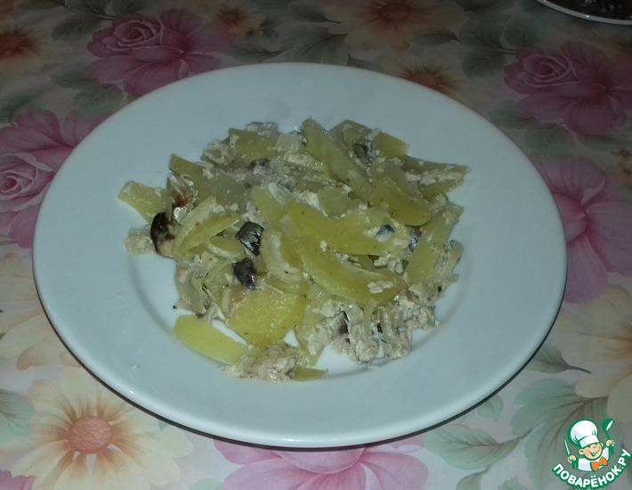 Рецепт: Запеканка из скумбрии и картофеля в духовке