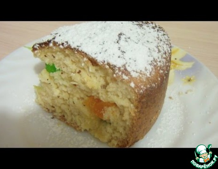 Рецепт: Творожный нежный кулич с цукатами