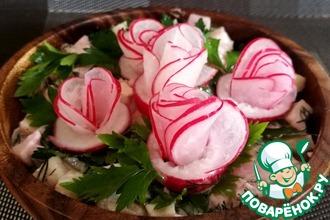 Рецепт: Розы из редиса