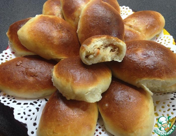 Рецепт: Дрожжевые пирожки на кефире