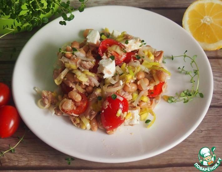 Рецепт: Вкусный салат с тунцом