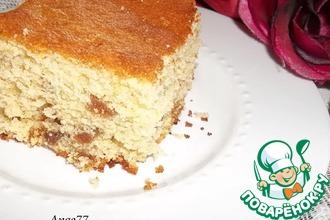 Рецепт: Сливочный пирог с изюмом