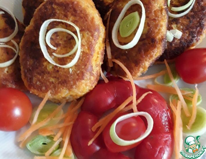 Рецепт: Морковно-овсяные котлеты