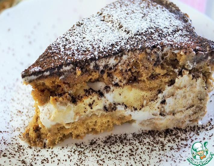 Рецепт: Торт из овсяного печенья с бананами