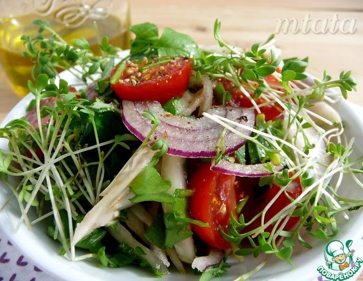 Рецепт: Салат из маринованного фенхеля с помидорами