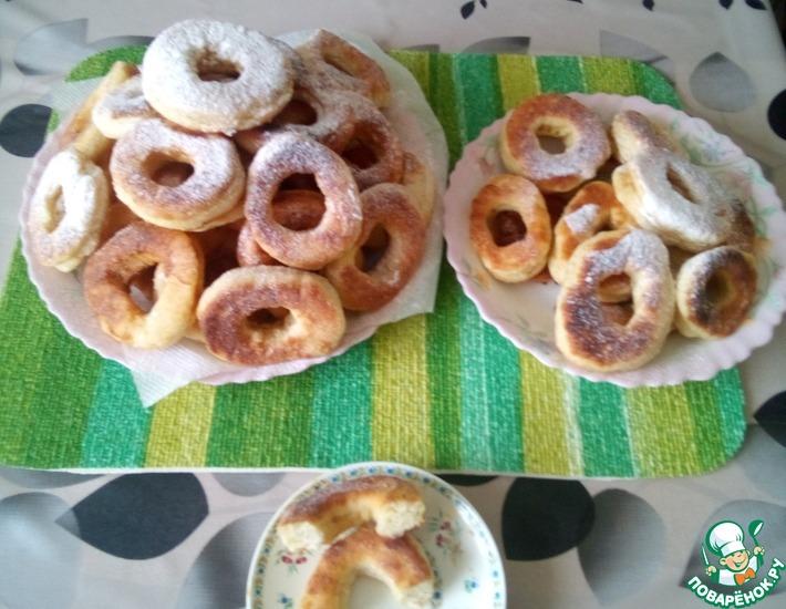 Рецепт: Пончики творожные