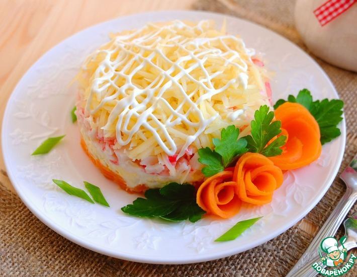 Рецепт: Салат слоеный Крабовый