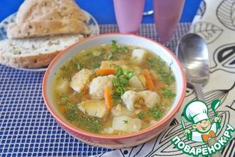 Рецепт: Суп из копченой трески и цветной капусты