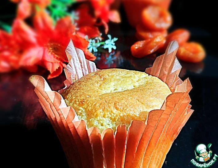 Рецепт: Манные кексы с курагой Желанные