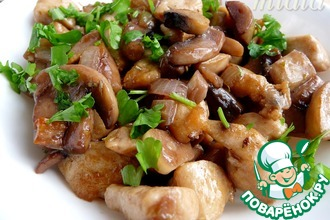 Рецепт: Курица под винно-сливочным соусом