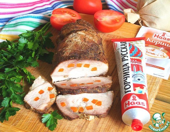 Рецепт: Мясо для бутербродов в горчично-коричном маринаде