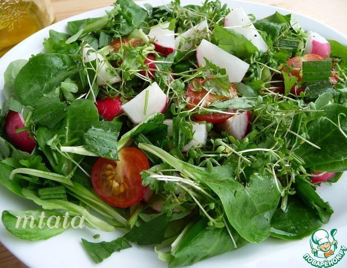 Рецепт: Салат из молодого редиса