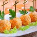 Закуска Сырные шарики с крабовыми палочками