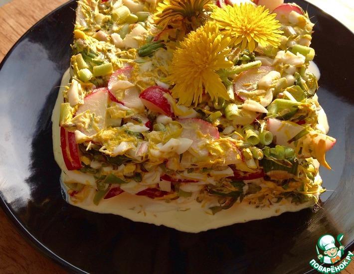 Рецепт: Салат из одуванчиков Писанли