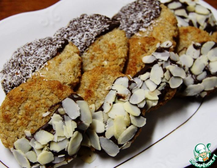Рецепт: Миндально-кокосовое печенье