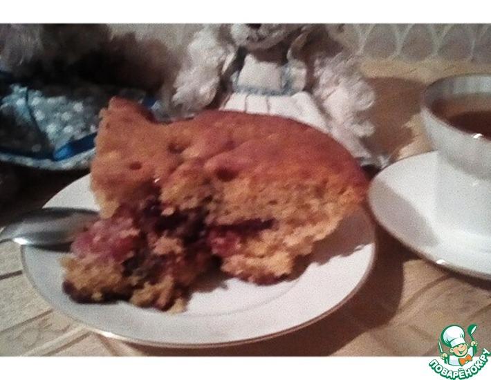 Рецепт: Масляный пирог с карамельными фруктами Компромисс