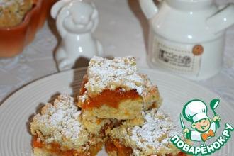 Рецепт: Пирог с курагой Домашний