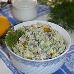 Картофельный салат с сельдью Простой