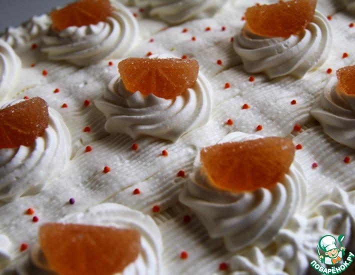 """Торт """"Апельсины в облаках"""""""