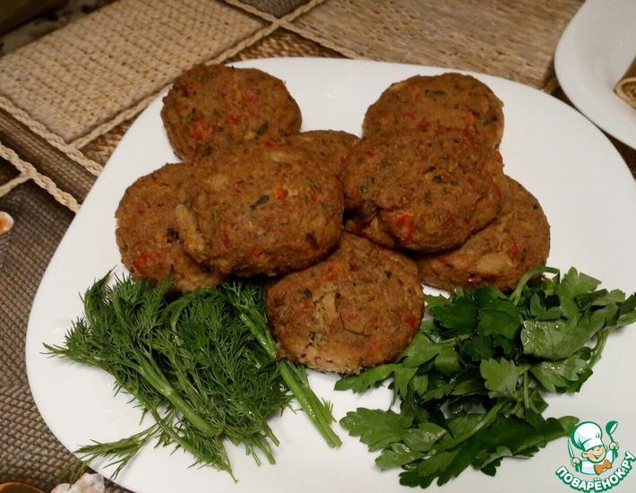 Рецепт: Рубленый бифштекс из соевого мяса